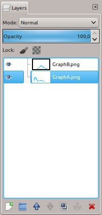 GIMP layers window
