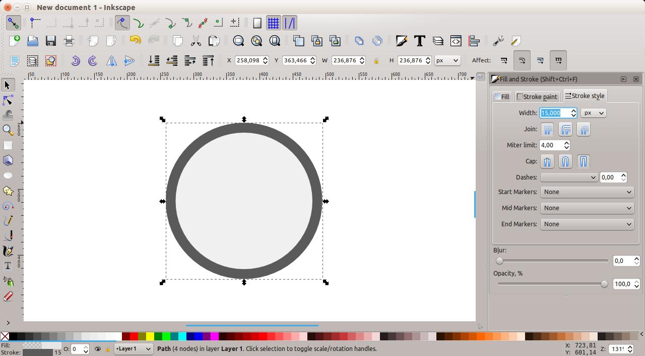 Inkscape - Stroke tool