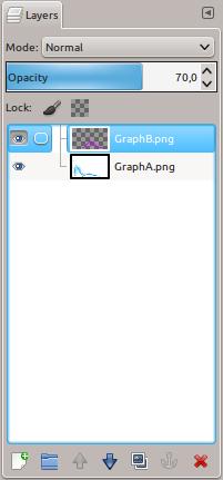 GIMP layer opacity