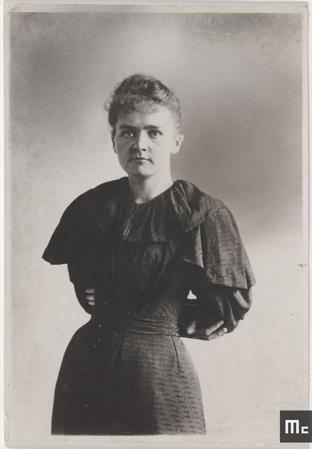 Marie Sklodowska, student, in 1894 (Source: Musée Curie; coll. ACJC)
