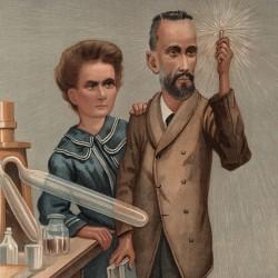 Caricature de Pierre et Marie Curie parue dans Vanity Fair en 1904