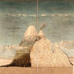 Géographie des plantes équinoxiales : Tableau physique des Andes et pays voisins, Alexander von Humboldt (auteur), Aimé Bonpland (auteur), Anne-Charlotte de Schönberg (dessinateur), Louis Bouquet (graveur), 1805, Gravure au burin colorée, 53,5 x 83 cm, St