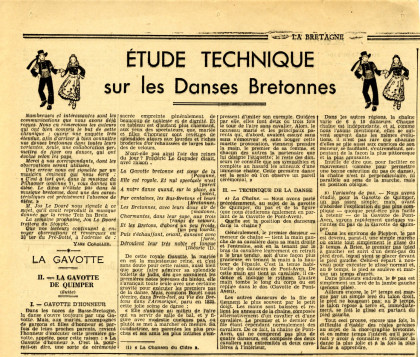Coupure de presse, La Bretagne, 1935.