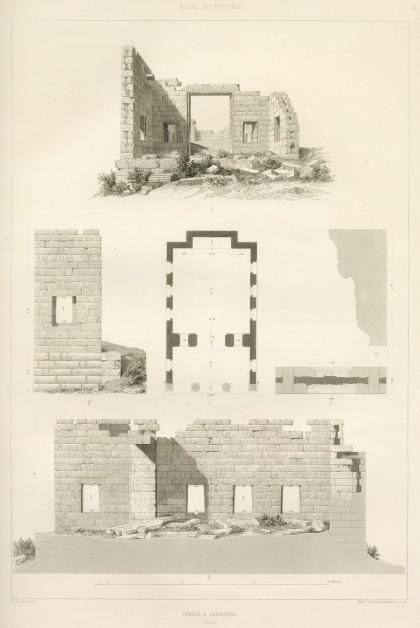Temple à Labranda, Eugène Landron, 1847