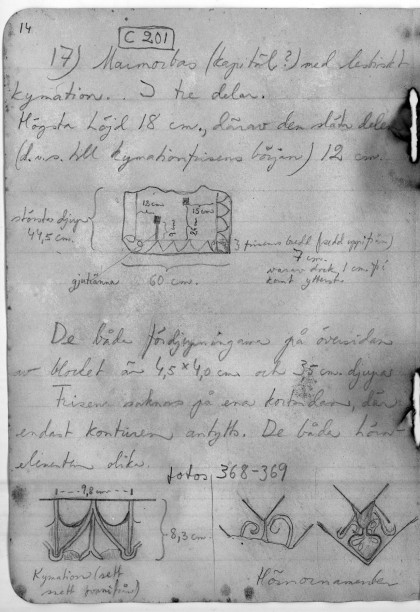 Carnet de fouilles de 1953