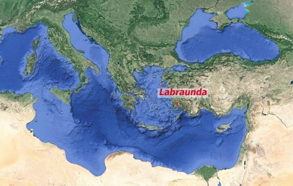 Carte de situation du site de Labraunda