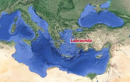 Carte de situation du site de Labraunda