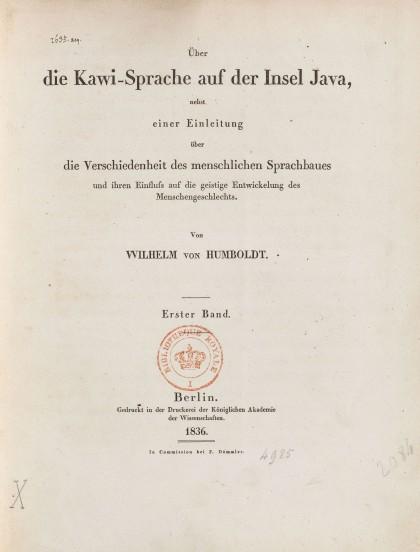 humboldt-Über die Kawi-Sprache auf der Insel Java