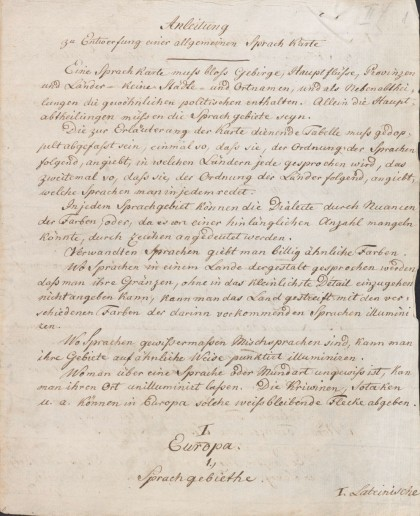 humboldt-Lettre adressé à Goethe, 1812