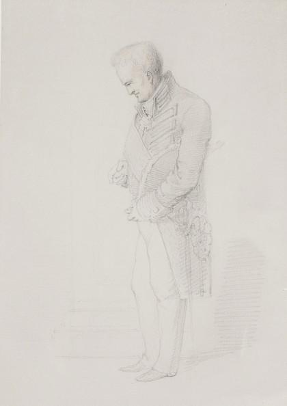 Alexander von Humboldt dans l'antichambre du roi de Prusse