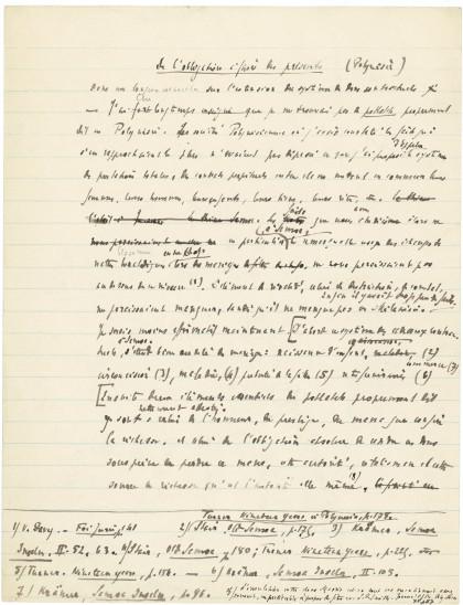 Marcel Mauss, Manuscrit de « L'Essai sur le don »