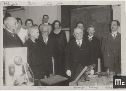 President Doumergue's visit to the Radium Institute, 4 June 1924 (Source: Musée Curie; coll. ACJC)