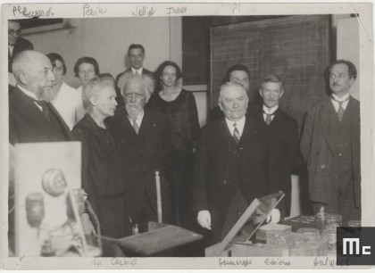 President Doumergue's visit to the Radium Institute, 4 June 1924 (Source: Musée Curie; coll. ACJC)