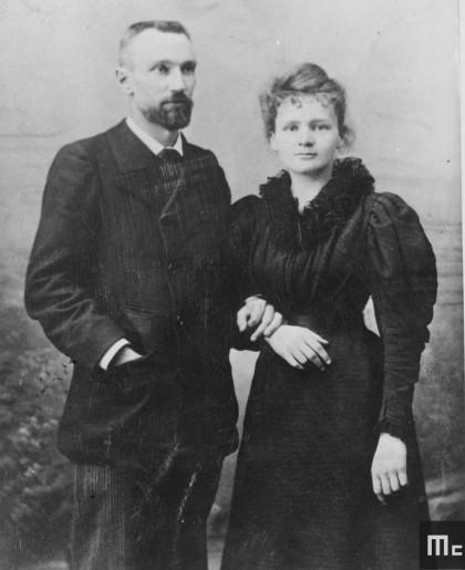 Pierre et Marie Curie en 1895 (Source: Musée Curie ; coll. ACJC)
