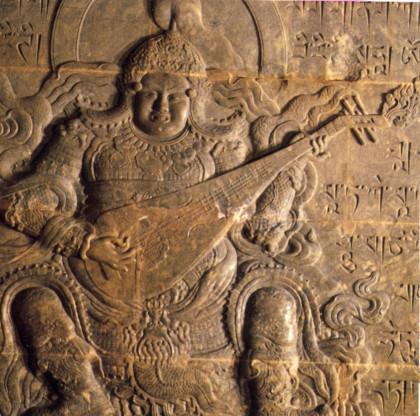 le roi céleste Dhṛtarāṣṭra