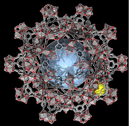 Représentation de la structure d'un MOF au fer