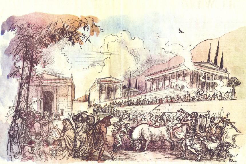 Le festival à Labraunda