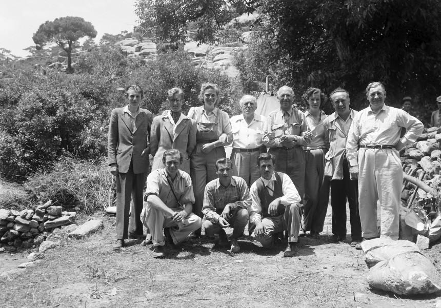 L'équipe de fouille de 1948
