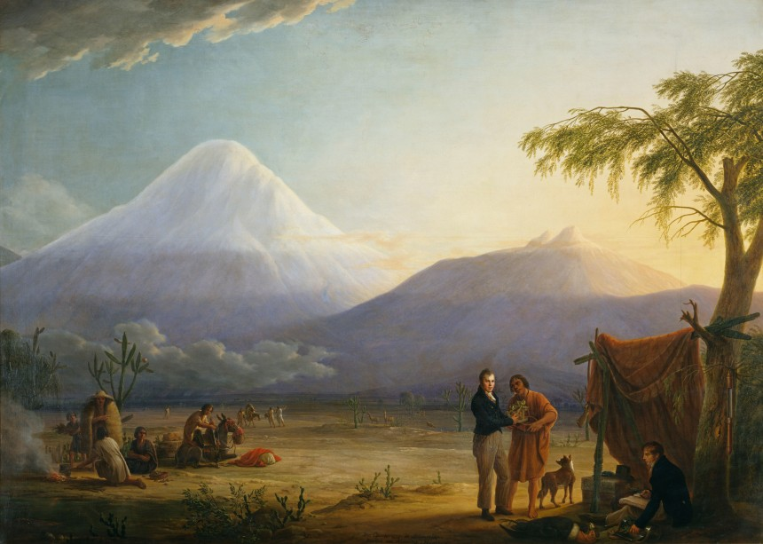 Humboldt et Bonpland au pied du Chimborazo en Equateur