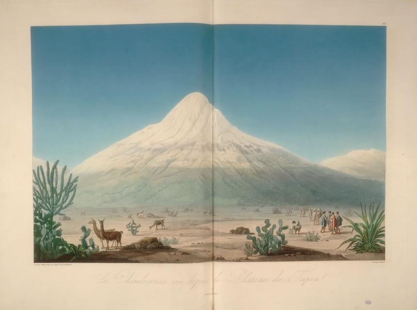 Le Chimborazo, vu depuis le plateau de Tapia