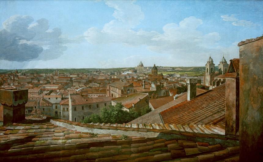 Humboldt- Vue sur Rome à partir de la villa de Malte