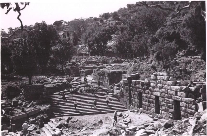Labraunda, escalier monumental, 1950