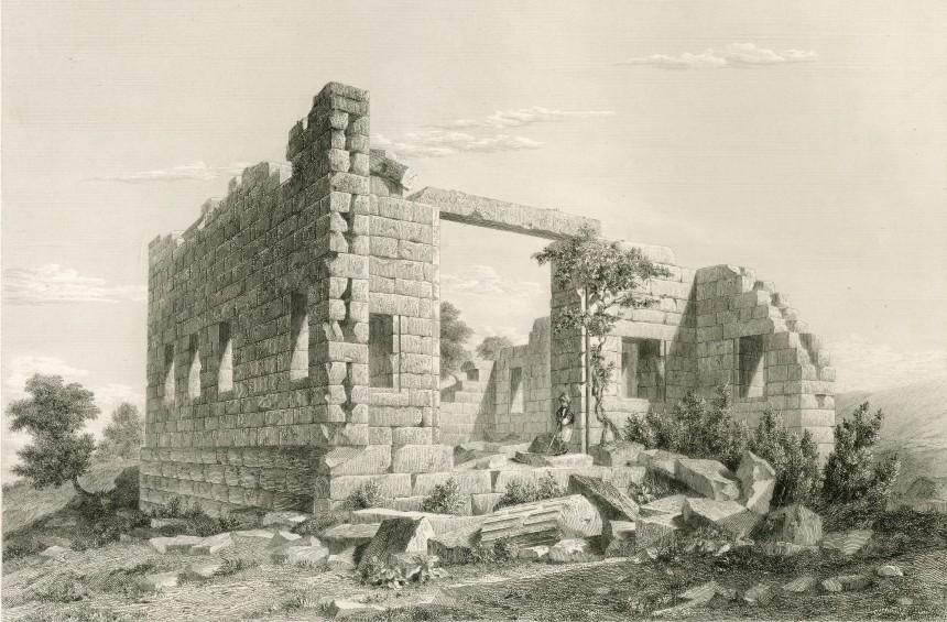 Temple de Jupiter à Labranda, Eugène Landron, 1847