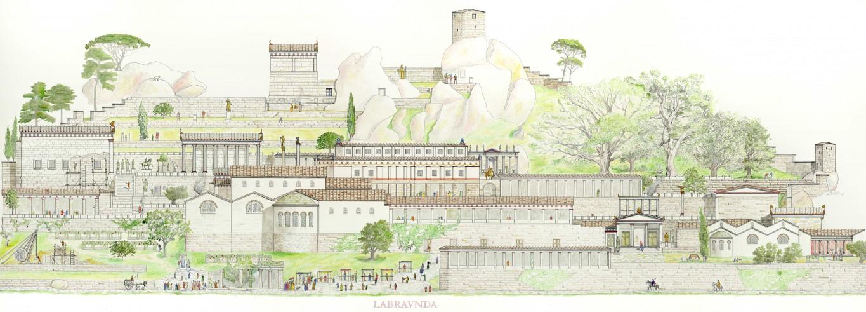 Restitution de Labraunda vers 300 ap. J.-C.