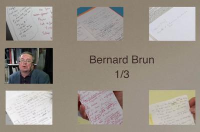 Bernard Brun-génétique des textes-dialogue