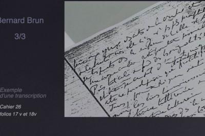 transcription Bernard Brun-génétique des textes