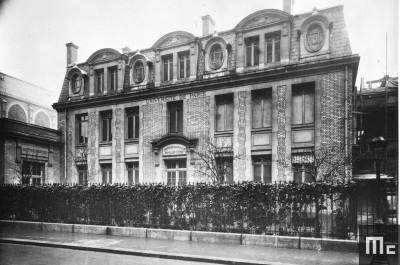 Institut du Radium, pavillon Curie, dans les années 1920.