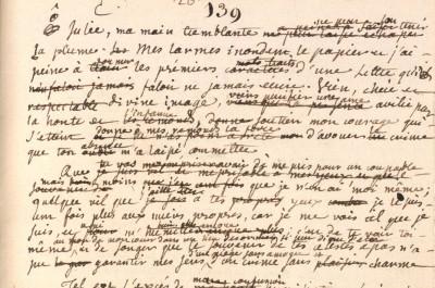 manuscrit de Jean-jacques Rousseau