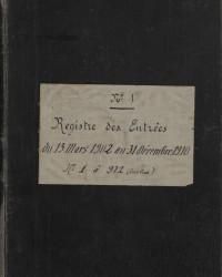 Bureau d'essai, registre d'entrée depuis l'arrêté ministériel du 13 mars 1902, n°1