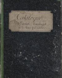 [Catalogue des substances essayées et analysées et des produits remarquables qu'elles ont fournis]