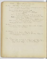 [Cahier de bord du Laboratoire Curie (1898-1927)], extrait, année 1920-1921
