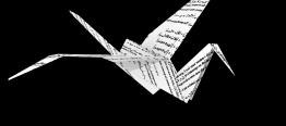 Article-grue de papier (blanc)