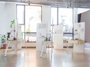 Exposition science frugale : la scénographie