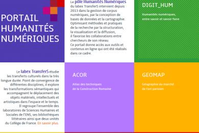 Portail Humanités numériques TransferS